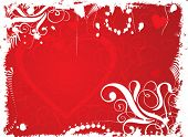 Valentine grunge background, vector illustration
