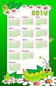 2010 Kid italian calendar with grubs and flowers
