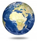 stock photo of world-globe  - planet earth on white  - JPG