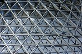 picture of geodesic  - Geodesic dome construction with plexiglas panels and metal girders - JPG