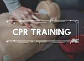CPR Training Demonstration Class Emergency Life  Rescue poster