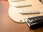 electric guitar close up.