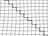 Soccer or field net texture isolated on white.