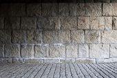 Parede de alvenaria de pedra