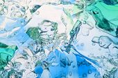 Blue gelatin macro