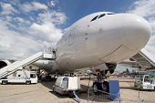 Airbus A380 on Ground without trademarks
