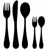 spoon, knife and fork vector
