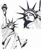 Statue of Liberty in very high detail in vector art - self drawn.