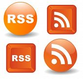 RSS Symbols in 3D and vector style