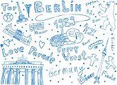 Berlin symbols in vector art