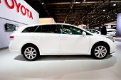 Moscow, Russia - August 25:  White Car Tayota Avensis At Moscow International Exhibition Interauto O