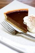 025 Slice Of Choclate Gateaux Tart Served With Fresh Whipped Cream