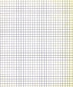 Blank sheet of a paper with a violet grid