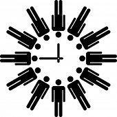 menschliche Uhr konzeptionell Abbildung
