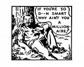 If You're So Smart - Retro Ad Art Illustration