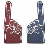 stock photo of ncaa  - Foam Finger Rivals - JPG