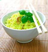 Bowl Of Fragrant Lemon Rice With Cashew