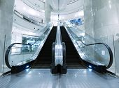 pic of escalator  - Escalator in department store - JPG