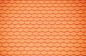 foto of roof tile  - a roof with a lot of red plane tiles - JPG