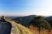 Shenandoah National park at the fall: a mountain view