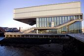 foto of ica  - View to the ICA Boston Museum at sunset - JPG
