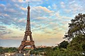 Eiffel Tower at evening, Paris, France