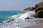 Mediterranean sea in Nerja, Spain