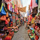 stock photo of bong  - Street market in Granada - JPG