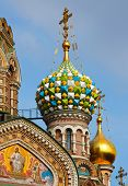 Detail of the Church of the Savior on Spilled Blood, St. Petersburg, Russia