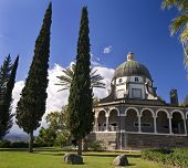 Roman Catholic Franciscan chapel on Mount of Beatitudes in the Galilee
