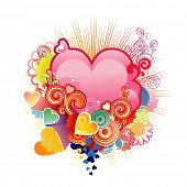Love heart / valentine's or wedding /  vector illustration  The layers are included