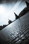 Red Square /  Moscow Kremlin  / dramatic silhouettes