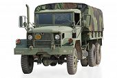 US Military Truck with Clipping Path
