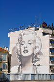 Cannes, France - August, 11 2010, Murales on Cinema Festival with Marilyn Monroe