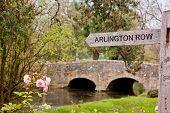 Signpost to Arlington Row in Bibury