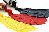 Flag colors of Germany in paint