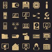 Data Recovery Icons Set. Simple Set Of 25 Data Recovery Vector Icons For Web For Any Design poster