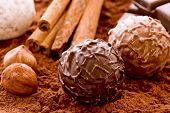 Chocolate Truffle and Cocoa Powder