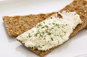 Crispbread with Cheese Spread