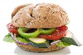 stock photo of bap  - Vegetable Sandwich - JPG