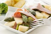 Asparagus with Ham and Melon