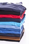 Polo shirts various colours isolated