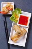 picture of nem  - Spring rolls with tempura and sauce - JPG