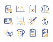 Survey Checklist, Certificate And Contactless Payment Icons Simple Set. Checklist, Quick Tips And Gu poster