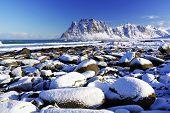 Haukland Beach in Lofoten Archipelago, Norway, Europe poster