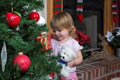 Little Girl Christmas Tree