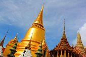 Temple of ohe Emerald Buddha, Bangkok, Thailand.
