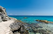 Scenic View From The Cliffs Of Isla Mujeres poster