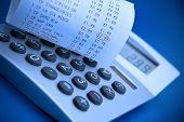 Calculator And Cash Register Receipt