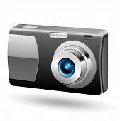 Photo camera 1. Easy to edit vector icon.